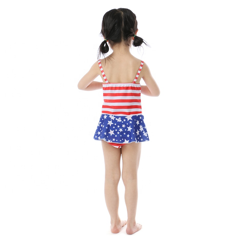 2019 top selling product star print summer kids baby clothes swimsuit girl