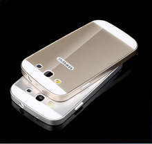 Luury Frame Case Cover For Samsung Galay S3 S4 S5 S6 GT Hybrid Aluminum Metal Acrylic Back Case