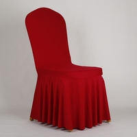 spandex ruffled wedding banquet chair cover