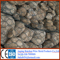 Galvanized /galfan/PVC/PE coated welded wire mesh gabion box/ basket (china factory)