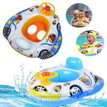 Environment-friendly PVC children's swimming float seat ring big horn boat inflatable baby swimming boat
