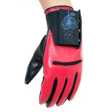 High - grade PU leather bicycle ski gloves ergonomic charging button can remove the fluorescent lamp.