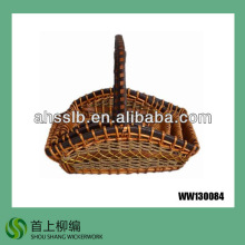 small shallow wicker peanut basket