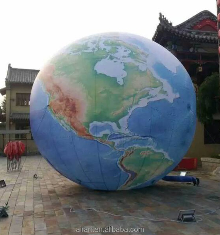 Giant inflatable earth globe, PVC inflatable earth ball,inflatable earth balloon