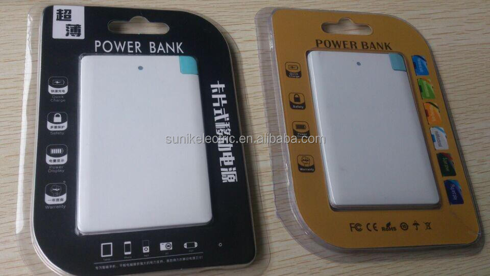 Credit card power bank super fast mobile phone charger