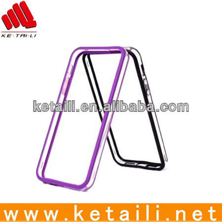 2013 PC Clear Bumper for iphone 5(Factory passed B&V ISO9001)