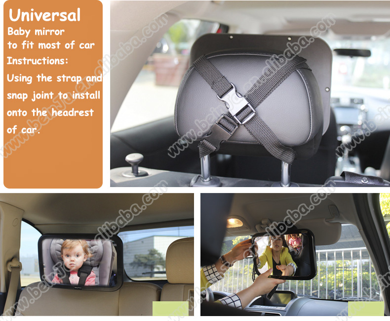 2015 cheapest price baby safety products baby car interior mirror back seat baby mirror car. Black Bedroom Furniture Sets. Home Design Ideas