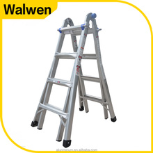 New design little giant multi-use 3 steps aluminum hinge ladder prices