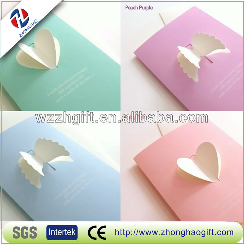 Kids Handmade 3d Greeting Cards/Invitation Cards-four colors