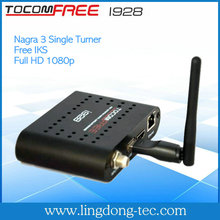 Tocomfree i928 with Internet connection iks free hd receptor de tv digital