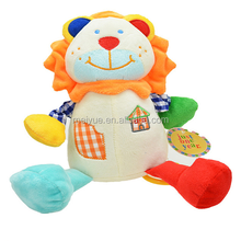 Wholesale plush animal color lion baby toys/High quality stuffed animal/Plush baby toys