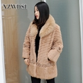 CX-G-A-195 Newest selling good quality fur coat fox with reasonable price