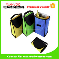 Briefcase style Non-Woven cooler bag for wine with handle