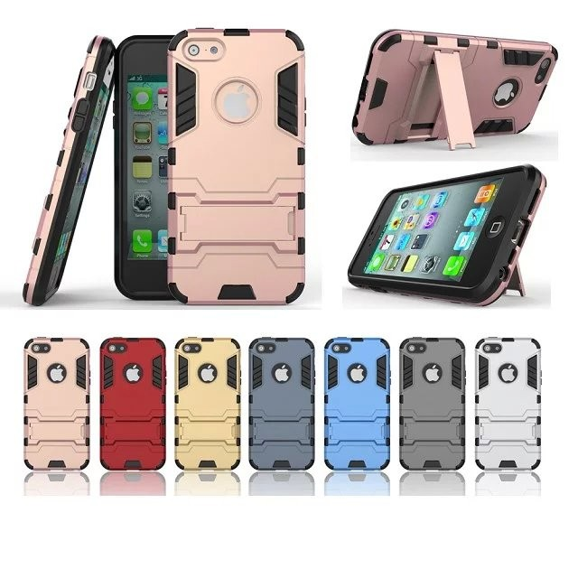 high quality Belt Clip Holster Stand Armor Case for iPhone SE , for iphone se case with kickstand 3in 1