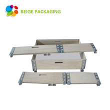 Folding wooden pallet collar crate packing storage box