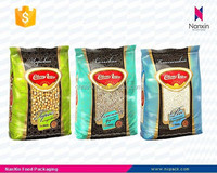 plastic grain snack packaging side gusset bag with window