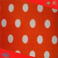 Latest Dress Designs Pink And Black Polka Dot Fabric For Clothing