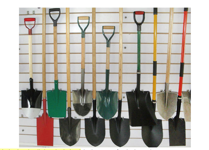 with short wood handle garden rake