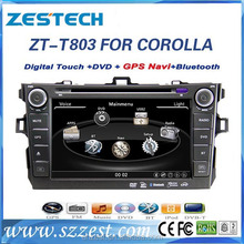 2 din in dash car dvd player for toyota corolla verso 2007-2011 with dvd gps navigation radio BT TV multimedia