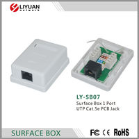 LY-SB07 Surface Box 1 Port UTP Cat.5e PCB Jack rj45 wall mount