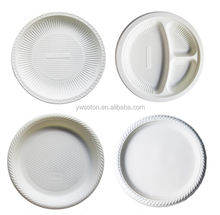 100% biodegradable disposable Christmas PLA plastic party plate