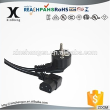 VDE power cords with molded plug