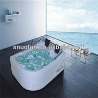 ABS modern corner 2 person jakuzi bathtubs