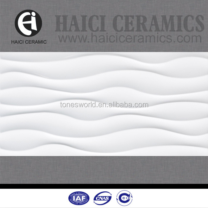 interior decoration 300x600 bathroom ceramic wavy white wall tile