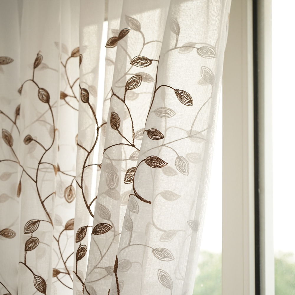 High quality cheap custom striped silk curtains sheer curtain