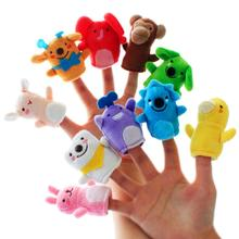 Wholesale mini plush toys stuffed funny lovely finger puppet with cheap price