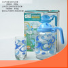 WHOLESALE DECAL TEA SET OF KETTLE AND CUP