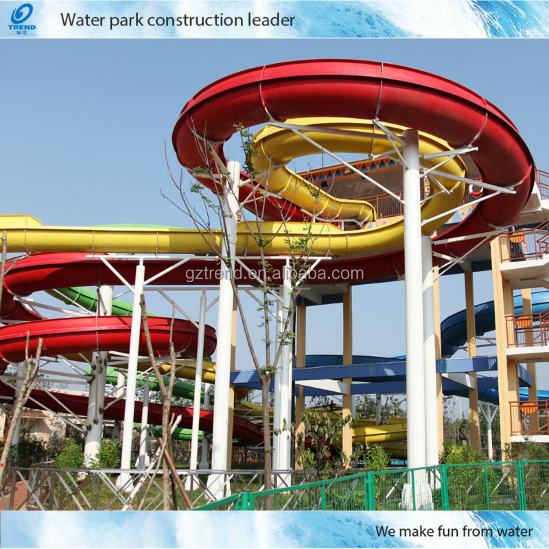 Used Fiberglass Water Slides of Water Park Equipment for Sale(HT-01)