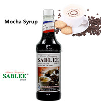 SABLEE French Mocha Flavor Syrup S222 Soft Drinks Flavors Molasses ( 900ml)