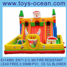 inflatable Santa playground /inflatable Christmas slide /christmas theme inflatable slide