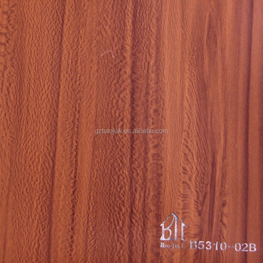 Wood Grain PVC Lamination Film Furniture \Floor Protective PVC Film
