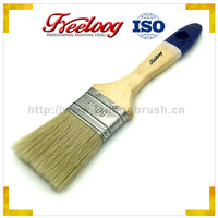"Poplar wood handle threaded handle with Bristles mixed PBT cover 2-1/2"" 63mm hand tools of brush"
