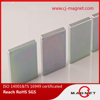 new design and high performance N40 block neodymium magnet from china