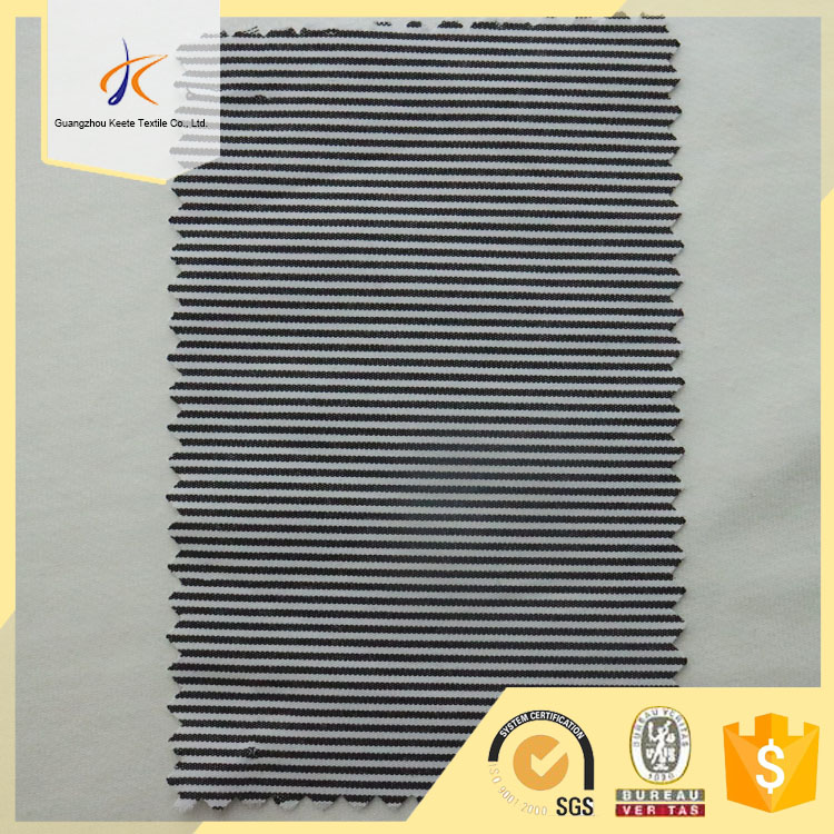 Twill striped design 80% cotton 20% polyester blend cheap price fabric of China Wholesale market
