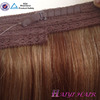 Best selling 16 inch 20 inch 140g 160g thick bottom halo hair extension 100% brazilian hair can custom packaging for hair