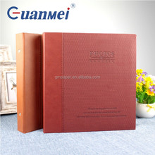 Leather wedding photo album design for peel & stick album self adhesive sheet photo album with box