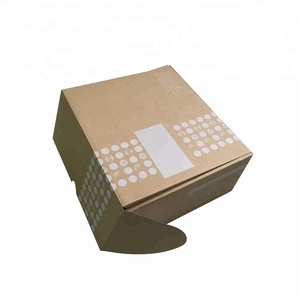 Low cost flat pack corrugated kraft paper a gift box