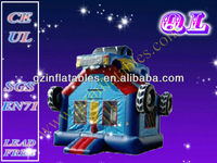2013 (Qi Ling) Durable kids jumping inflatable PVC Tarpaulin bouncer