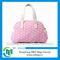Little flowers printing PU Leather bags fashion 2012