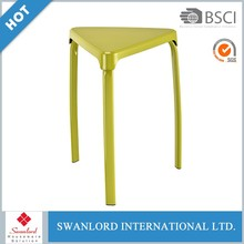 Triangle shape PP cover stool chair