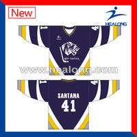 2013 High Quality OEM Sublimation Ice Hockey Cool Pass Jersey