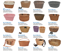 wicker bicycle bike basket