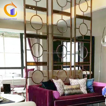 Design Living Room Hall And Dining Stainless Steel Wall Decorative Screen Dividers Hanging Screen Home Room Partition Panels