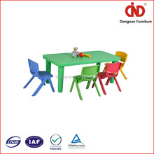 2016 wholesale eco-friendly new design cheap children plastic table and chair table children