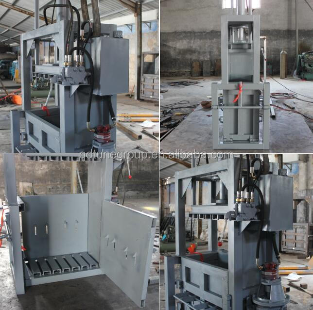 Used customized hydraulic vertical clothes baler