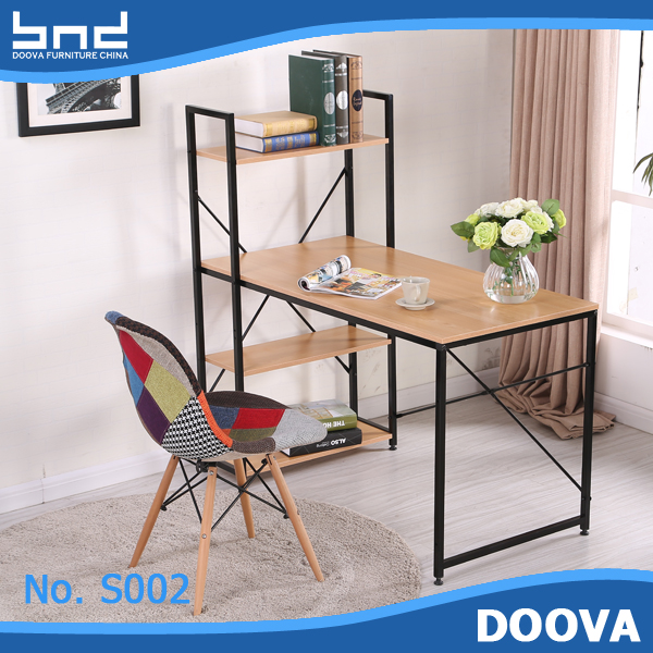 Office desk design commercial metal and wood shelving